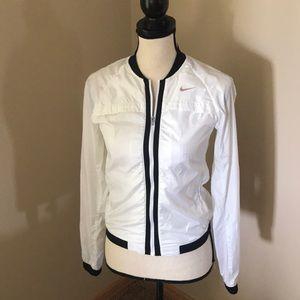 [Nike] Running White Zip Up Jacket Size XS
